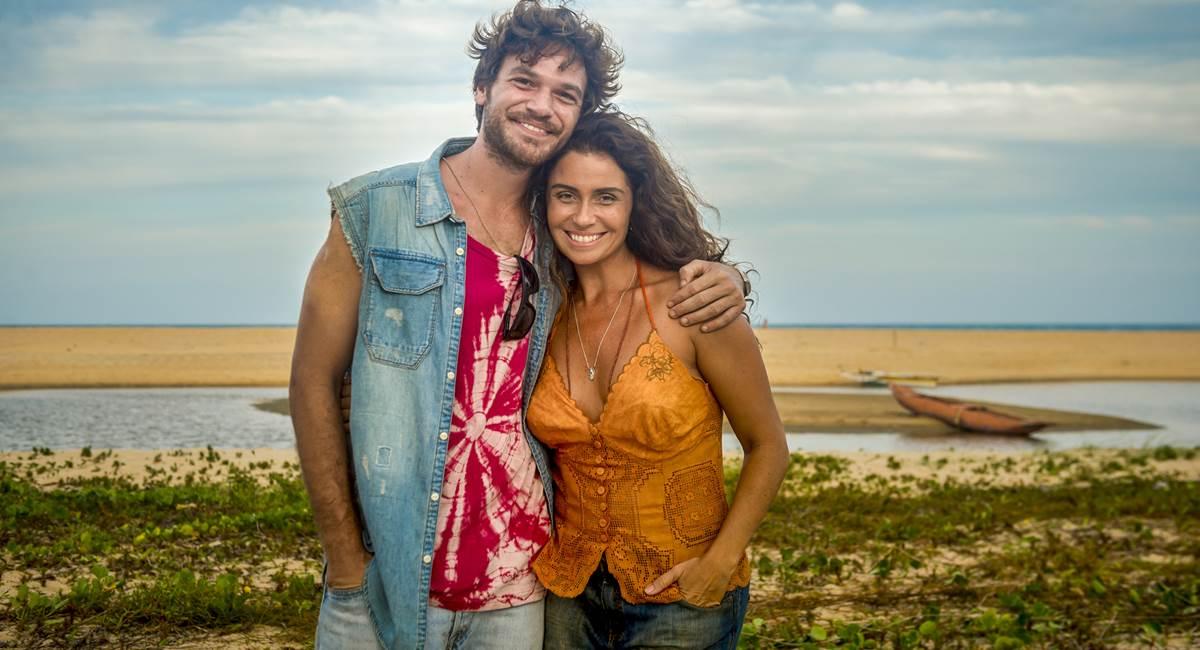 Emilio Dantas e Giovanna Antonelli em cenário paradisíaco de Segundo sol
