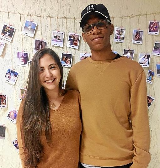 Crédito: Arquivo pessoal/Divulgação. Calebe e Luiza