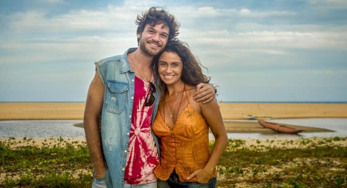 Crédito: João Cotta/TV Globo. Giovana Antonelli e Emilio Dantas como Luzia na novela Segundo Sol.
