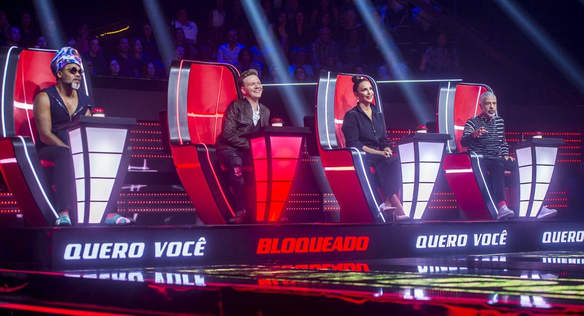 Carlinhos Brown. Michel Teló, Ivete Sangalo e Lulu Santos estão de volta ao The voice Brasil