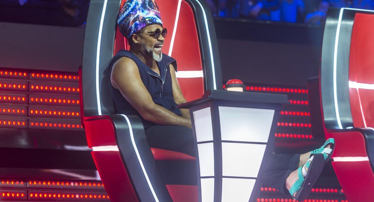 Carlinhos Brown foi o técnico da brasiliense Ellen Oléria na primeira temporada do 'The voice Brasil'