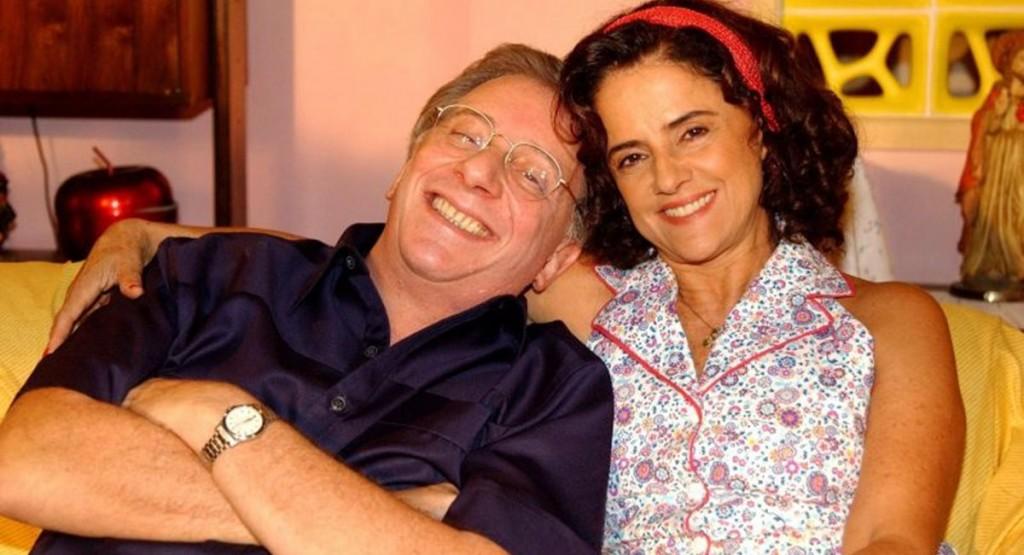 Marco Nanini e Marieta Severo em A grande família