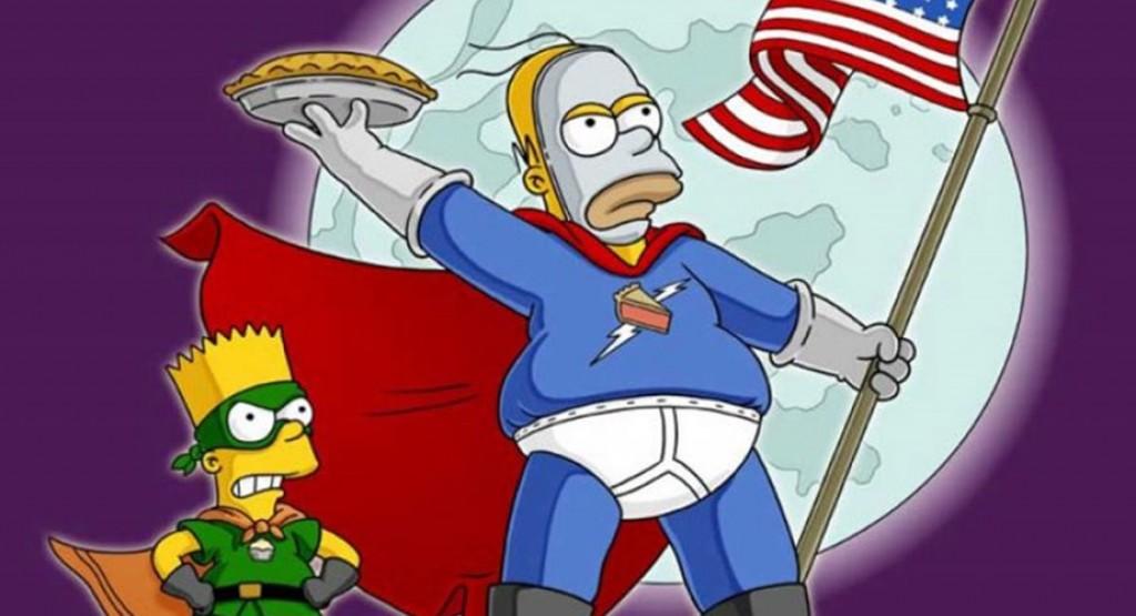 Bart e Homer são companheiros de aventuras em Os Simpsons