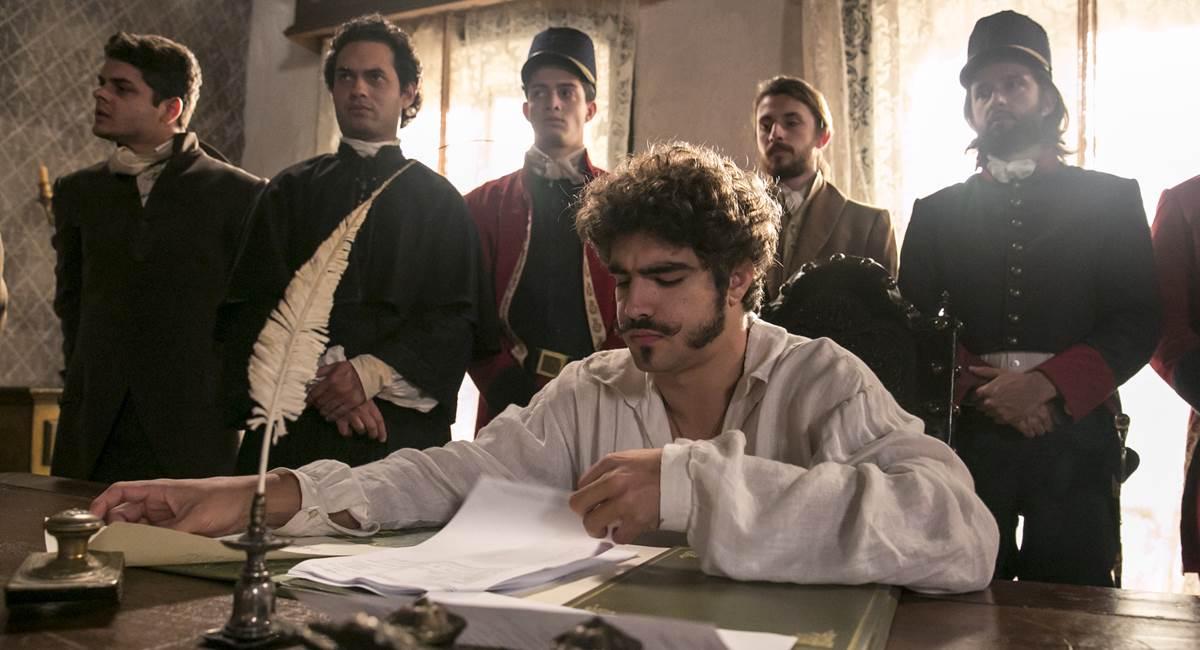 Crédito: Rafael Campos/Divulgação.Caio Castro como Dom Pedro I em Novo mundo.