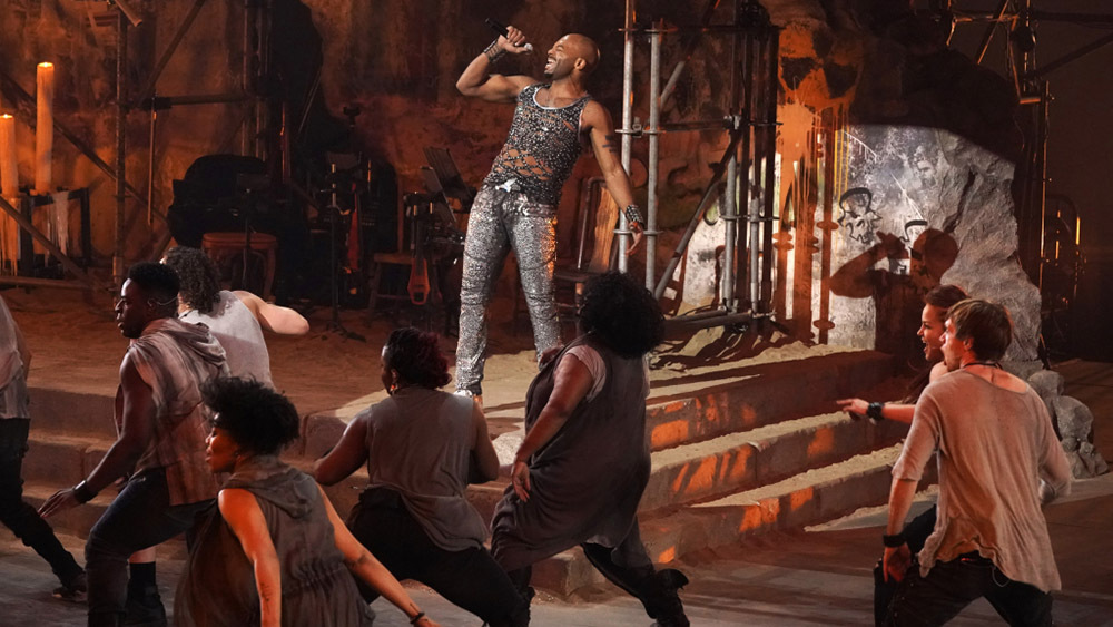 JESUS CHRIST SUPERSTAR LIVE IN CONCERT -- Pictured: Brandon Victor Dixon as Judas -- (Photo by: Virginia Sherwood/NBC)