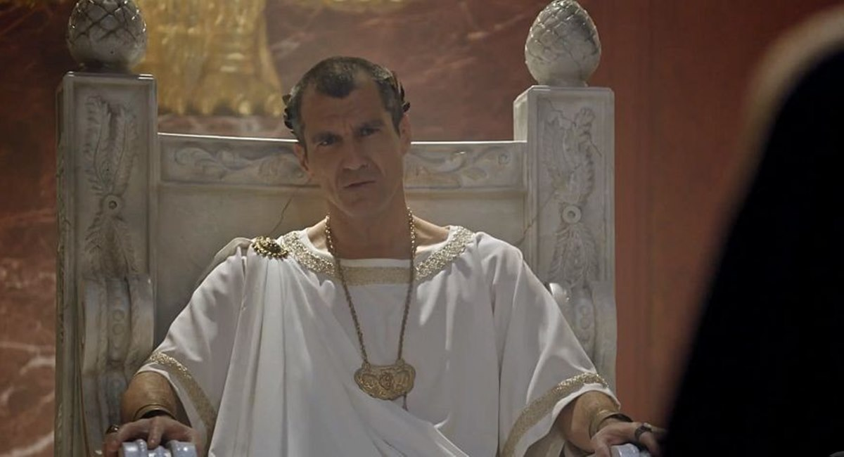 Nicola Siri como Pilatos na novela Jesus, da Record