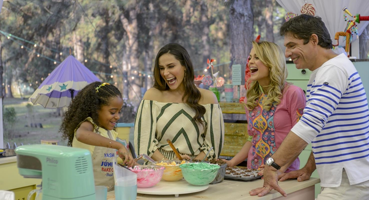 Cena do reality show Junior BakeOff Brasil