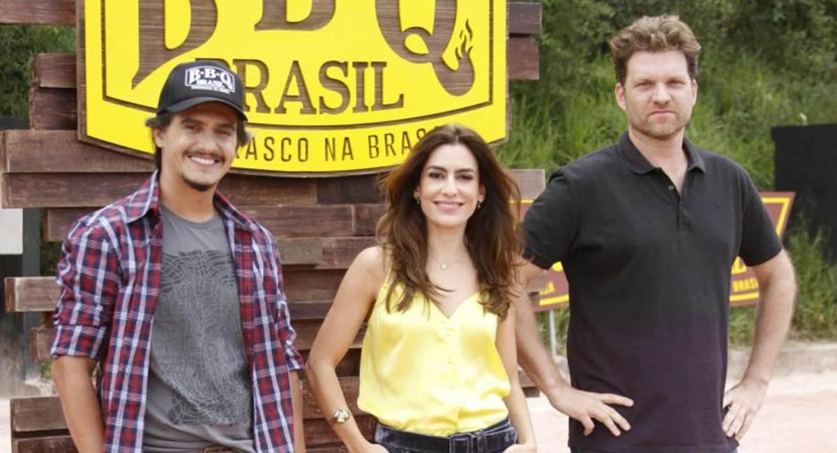 Rogério deBetti, Ticiana Villas Boas e Carlos Bertolazzi, no reality BBQ Brasil.
