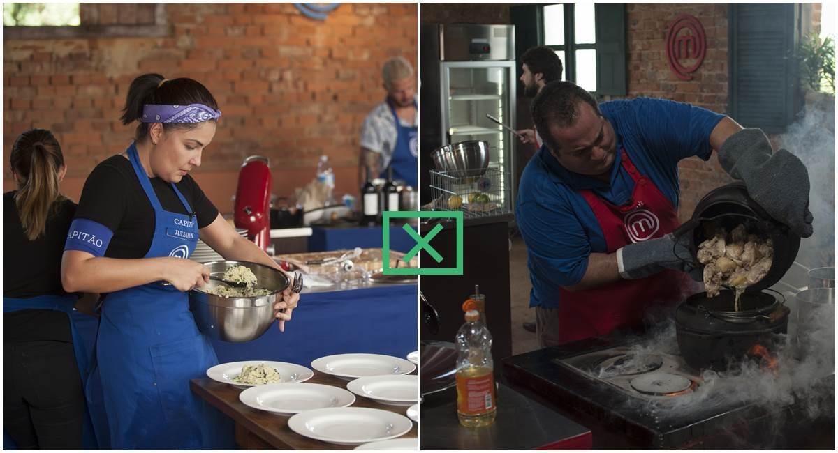 Juliana e André cozinham no MasterChef