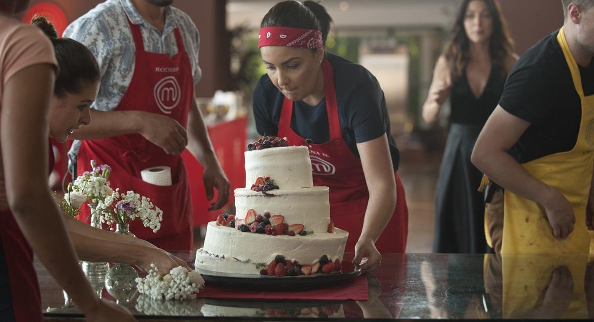 prova do bolo de casamento no MasterChef