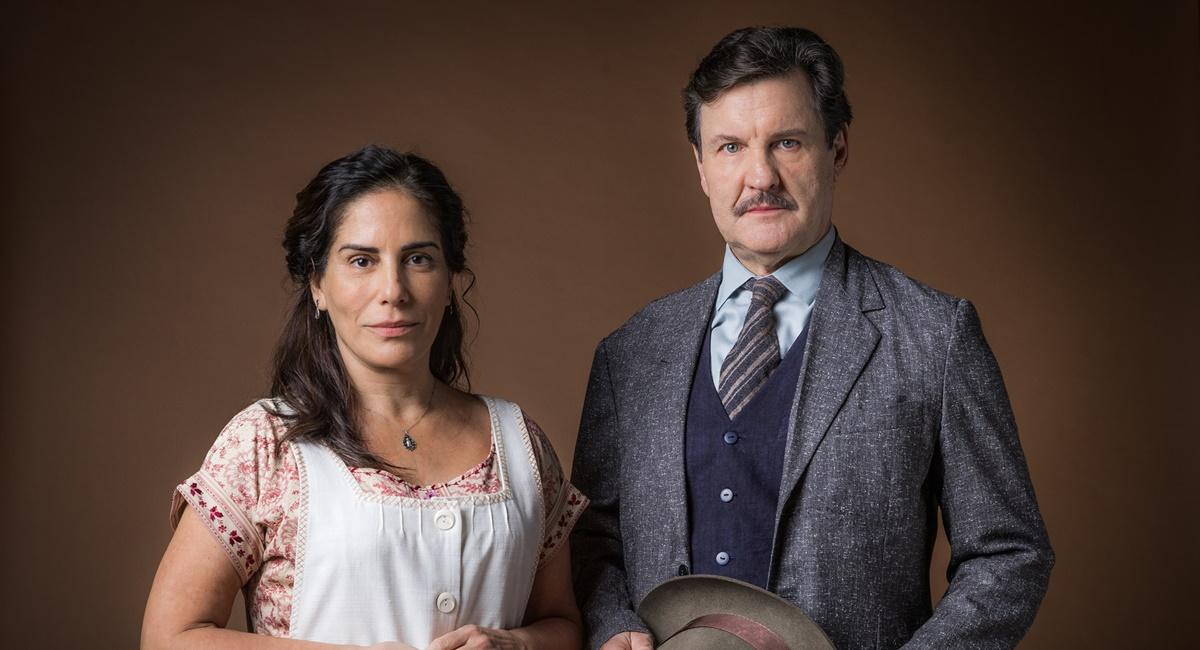 Gloria Pires e Antônio Calloni como Lola e Júlio em Éramos seis.