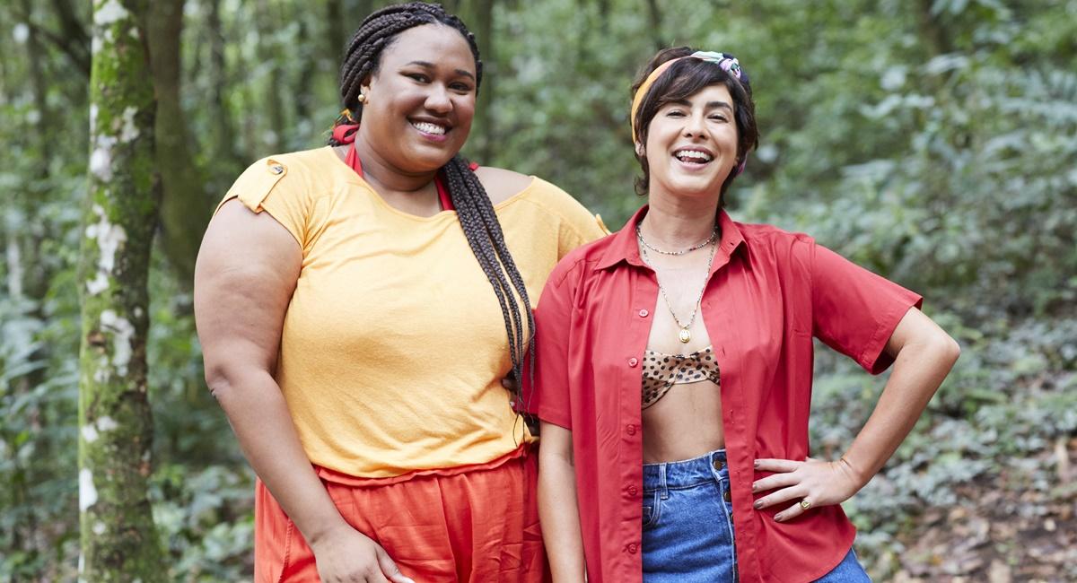Luana Xavier e Fernanda Paes Leme no programa Viagem a qualquer custo