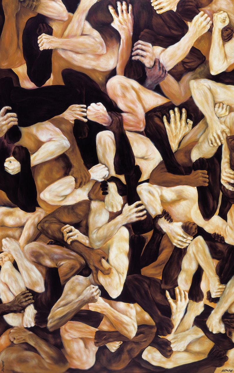 Credito: Wagner Hermusche/Divulgacao. Exposição Coreografia da Violência, do artista plástico Wagner Hermusche.