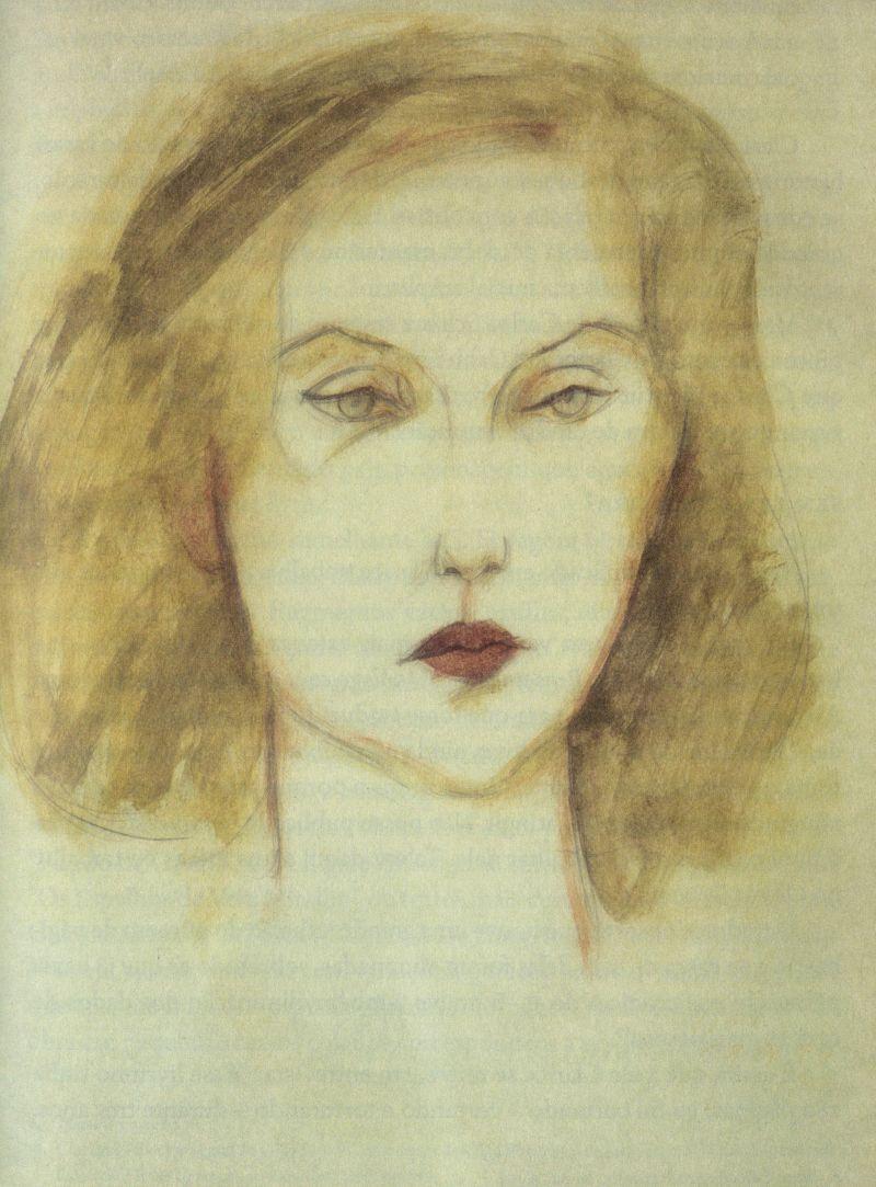 Crédito: EDUSP/Reprodução. Retrato de Clarice Lispector em Cabo Frio em 1972 feito por Carlos Scliar, imagem do livro Clarice: Uma vida que se conta; de Nádia Battella Gotlib.