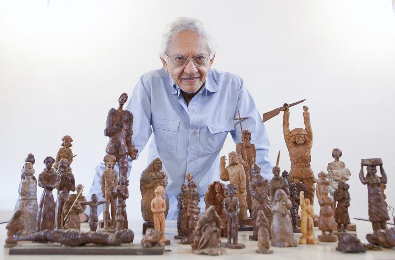 01/03/2015. Credito: Júnior Aragão/Divulgacao. Esculturas do cineasta Vladimir Carvalho.