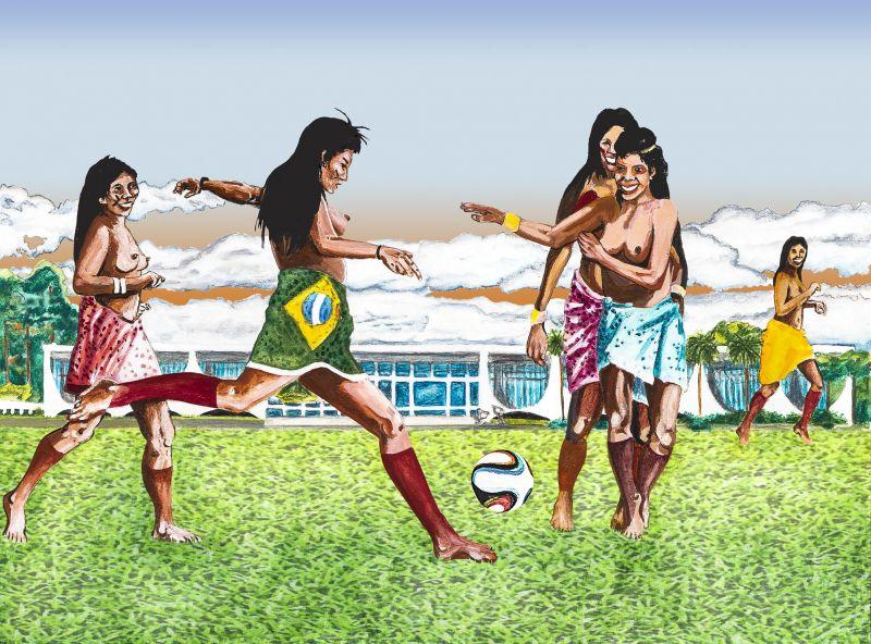 """Crédito: Paulo Andrade/Reprodução. Trabalho do artista plástico Paulinho Andrade: Gravuras da série """"O eterno retorno -- uma aventura de Nietzsche no Planalto Central."""
