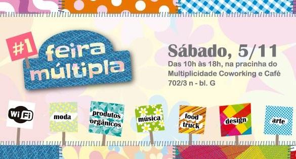Feira Múltipla um evento ao ar livre com atividades integradoras