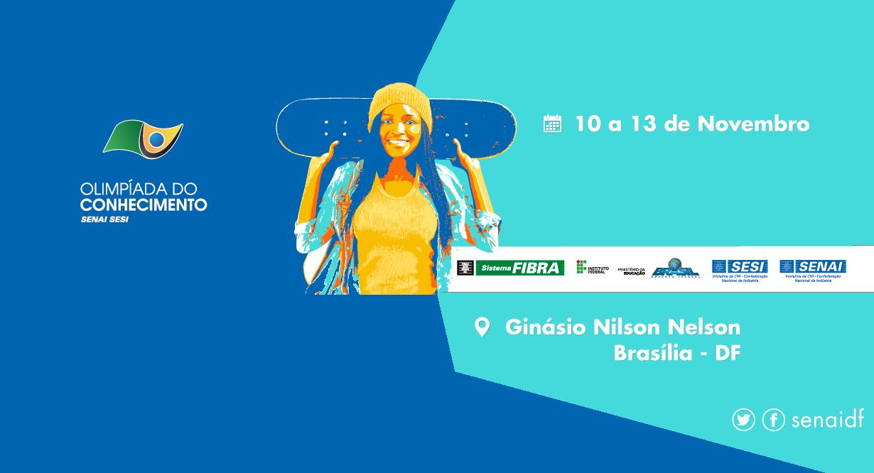 Olimpíada do Conhecimento do SENAI no DF Brasilia 2016 tecnoveste
