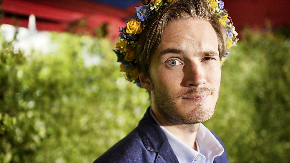 Mandatory Credit: Photo by IBL/REX/Shutterstock (3787931c) Felix Kjellberg better known by his online alias PewDiePie is a Swedish video game commentator on YouTube Portrait of video game commentator Felix Kjellberg, Stockholm, Sweden - 03 Jun 2014