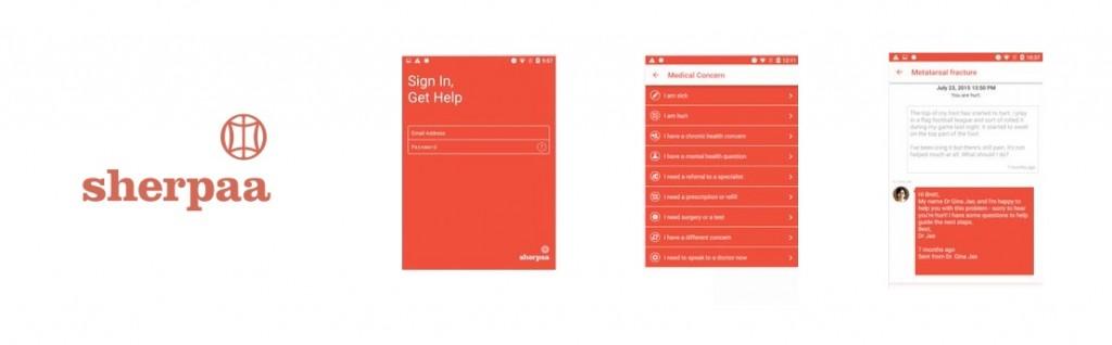 como funciona o aplicativo de medicos sherpaa atendimento plano de saude app startup