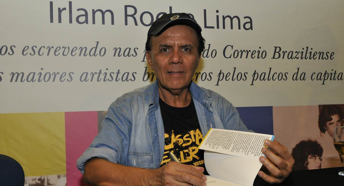 Irlam Rocha Lima no lançamento de Minha trilha sonora