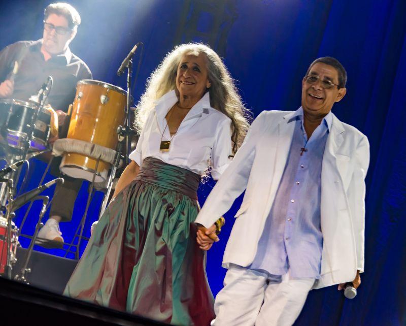 Credito: Gerlan Cidade/Divulgação. Show:  De Santo Amaro a Xerem com Maria Bethania e Zeca Pagodinho, realizado  Km Vantagens Hall, no Rio de Janeiro.