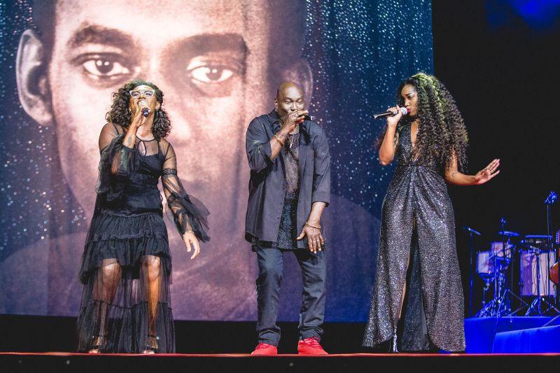 Crédito: Diego Padilha/Divulgação. Brasil. Rio de Janeiro - RJ. 29º Prêmio da Música Brasileira. Liniker e Iza.
