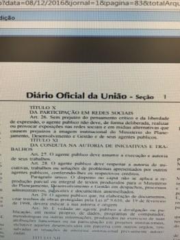 Servidores acusam o Planejamento de censura
