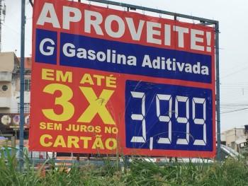 Gasolina por menos de R$ 4 e em três vezes no cartão