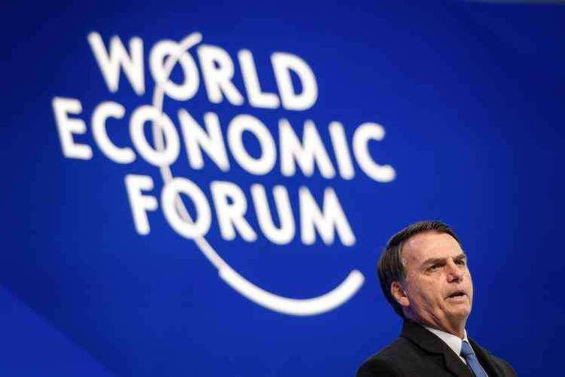 Para técnicos do governo, Bolsonaro foi Bolsonaro em Davos