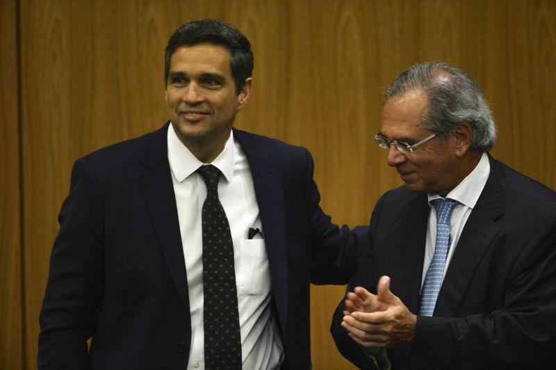 presidente do Banco Central (BC), Roberto Campos Neto, e o ministro da Economia, Paulo Guedes