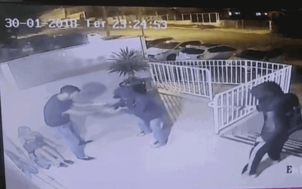 Foto: Cena de assalto a condomínio do Lago Norte (Foto: TV Globo/Reprodução)