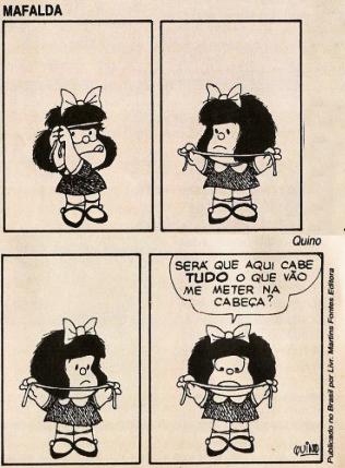 Tirinha: Mafalda (Quino)