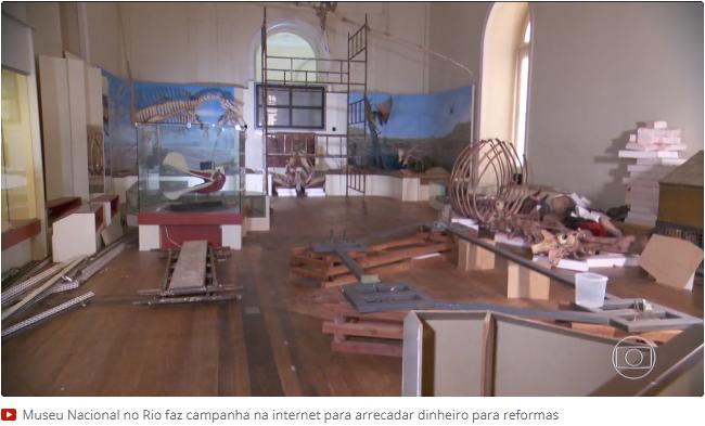 Em comemoração aos 200 anos do Museu Nacional, em 6 de junho de 2018, o Bom Dia Brasil exibiu uma reportagem sobre uma vaquinha na internet para arrecadar fundos para a reforma do museu (g1.globo.com)