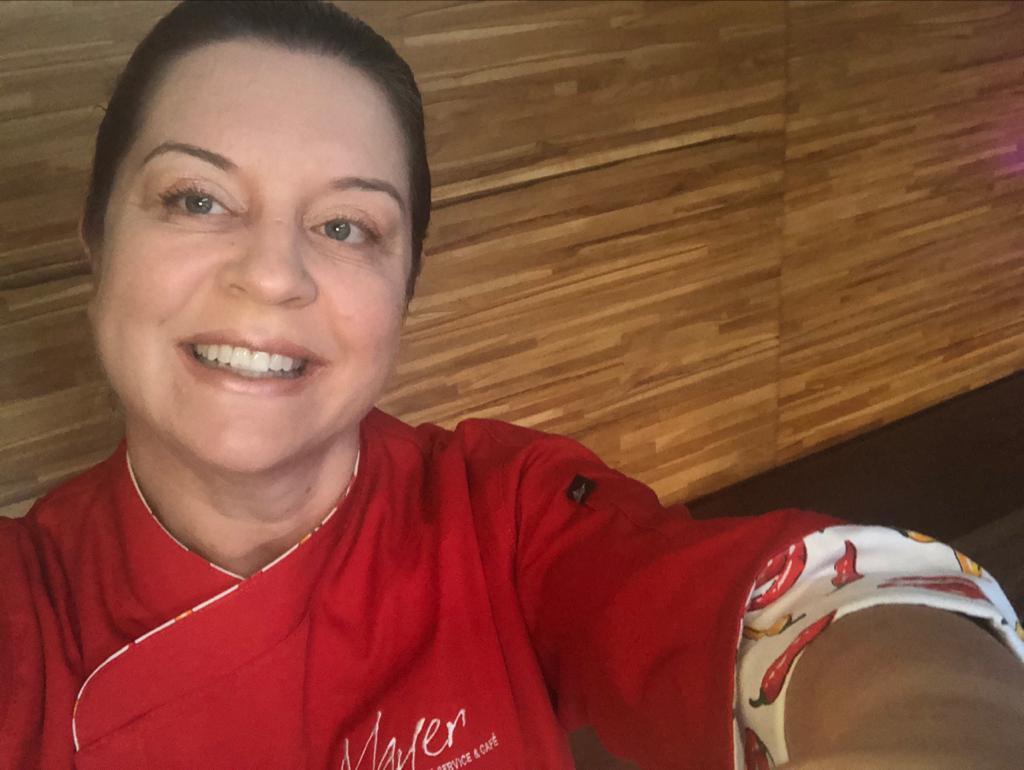 Keli Meyer, dona de restaurante