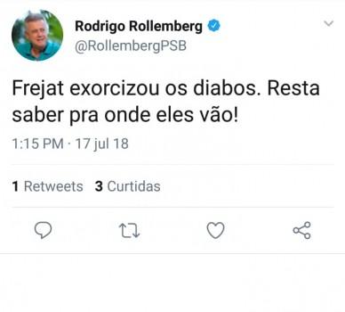 Rollemberg no Twitter