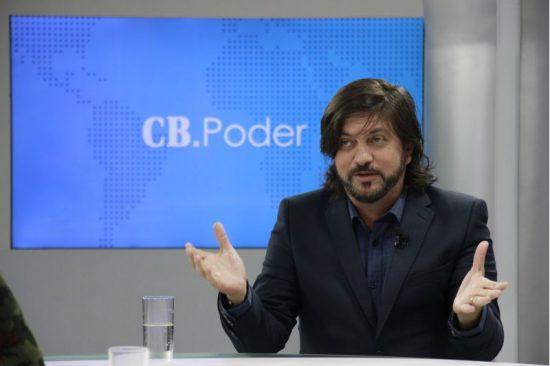 O deputado distrital Cláudio Abrantes (PDT-DF) é entrevistado no CB.Poder, na TV Brasília