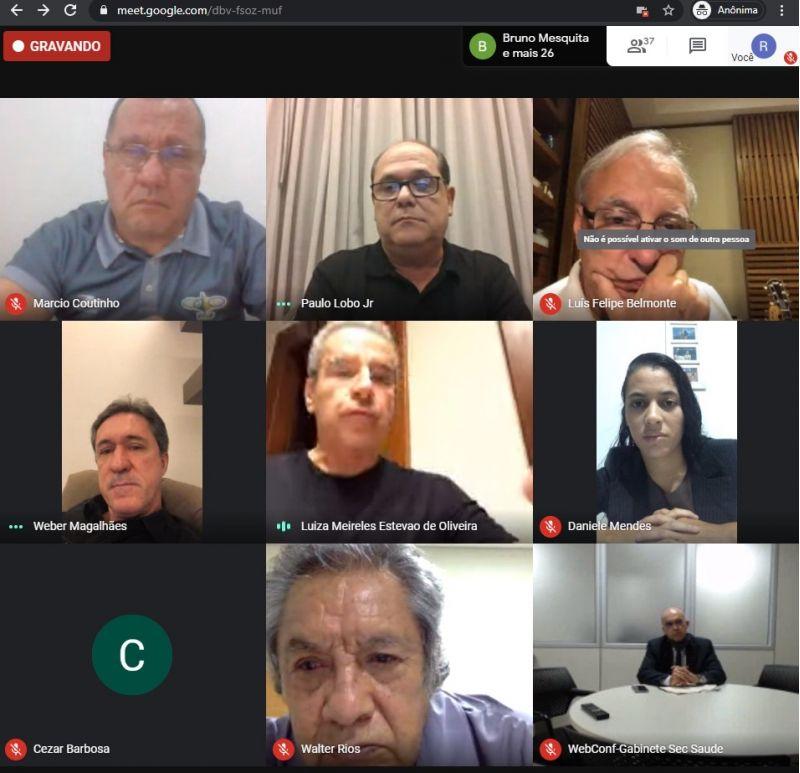 Live da secretaria de Esportes em que foi discutida a volta do futebol com Luiz Estevão