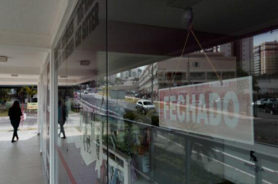 Comércio em Águas Claras fechado durante a pandemia do covid19