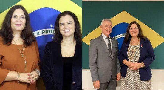 Bia Kicis posta foto com dois candidatos ao comando do MPDFT