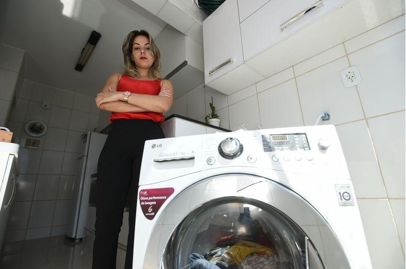 Gesllane não conseguiu trocar a máquina de lavar