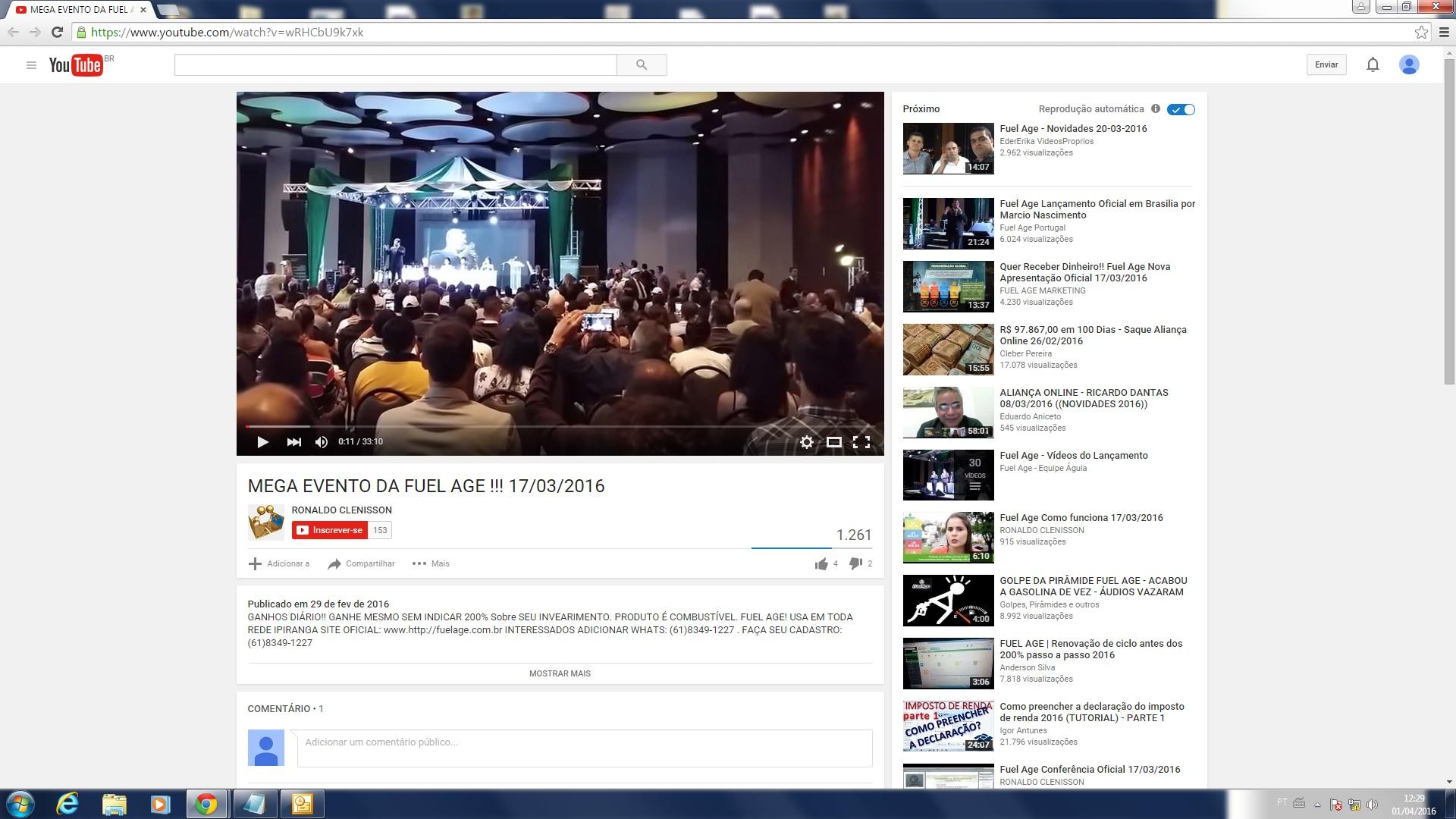 Vídeo mostra evento em Brasília