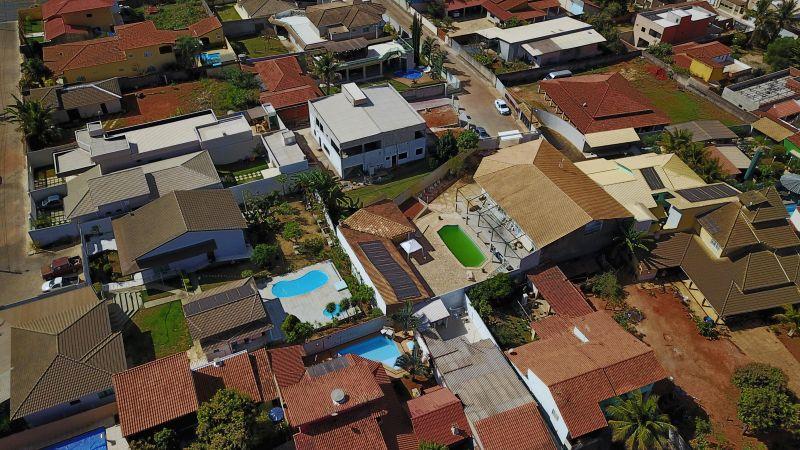 24/08/2017. Crédito: Breno Fortes/CB/D.A. Press. Brasil. Brasília - DF. Foto aérea de construções em Vicente Pires.
