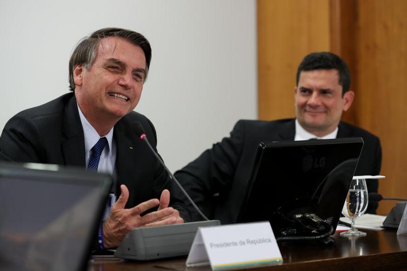 Bolsonaro e Sérgio Moro