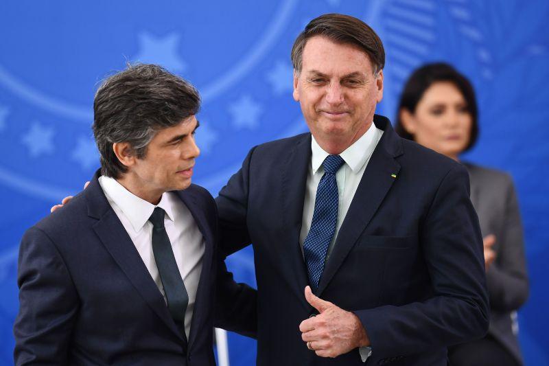 Bolsonaro e Nelson Teich