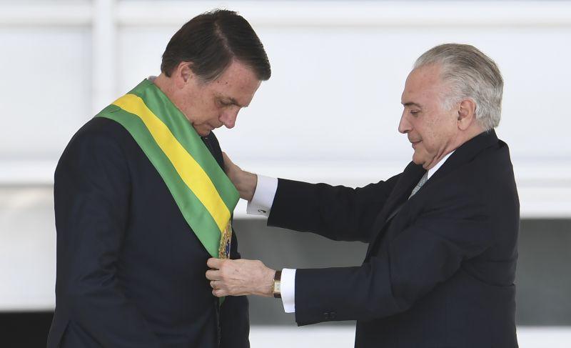 Michel Temer e Bolsonaro