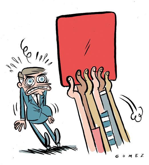 cartão vermelho Bolsonaro