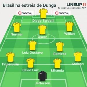 Quatro titulares do 7 x 1 na reestreia de Dunga na Seleção contra a Colômbia