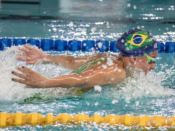 Beatriz Carneiro foi prata nos 100m peito | Foto: Daniel Zappe/CPB/MPIX