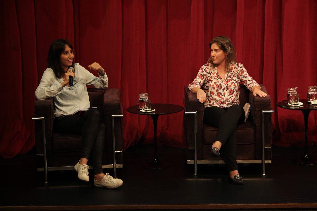Maria Eduarda Cardim e Maíra Nunes, do blog Elas no Ataque, em debate sobre igualdade de gênero